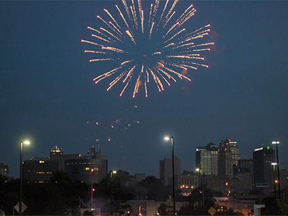 fireworks over KCMO
