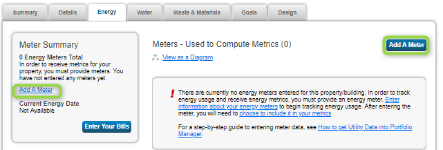 Energy Star Portfolio Manager Add a Meter