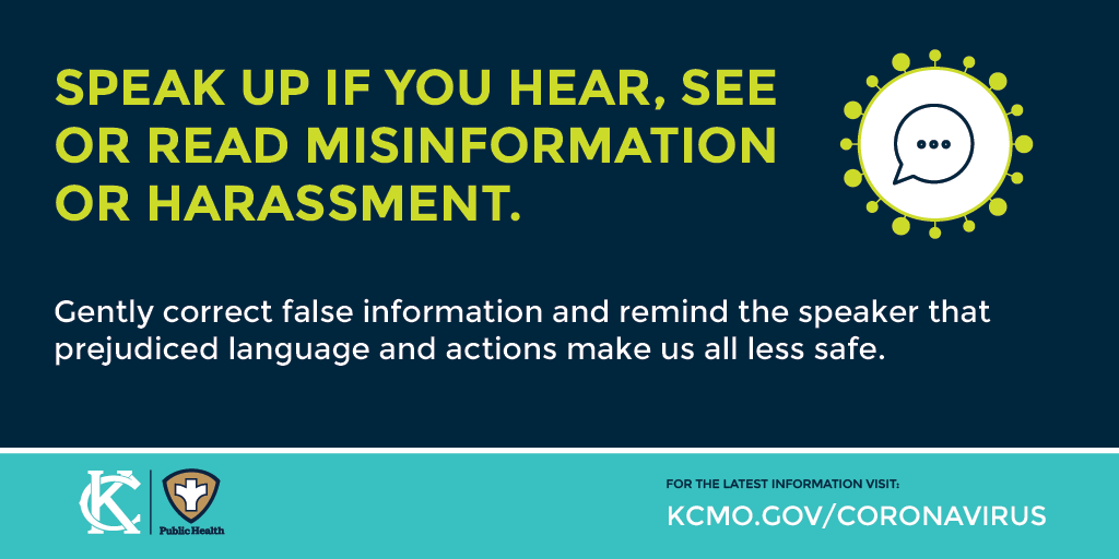 Speak Up if you heard, see or read misinformation or harassment
