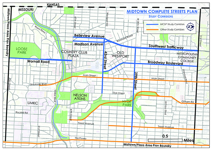 Midtown Complete Streets Plan Map