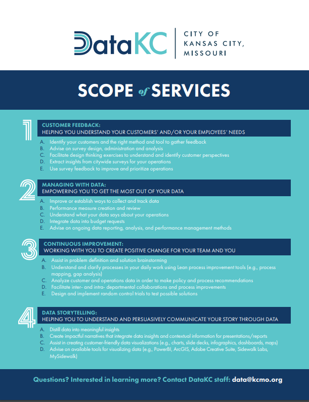 DataKC scope of services flyer