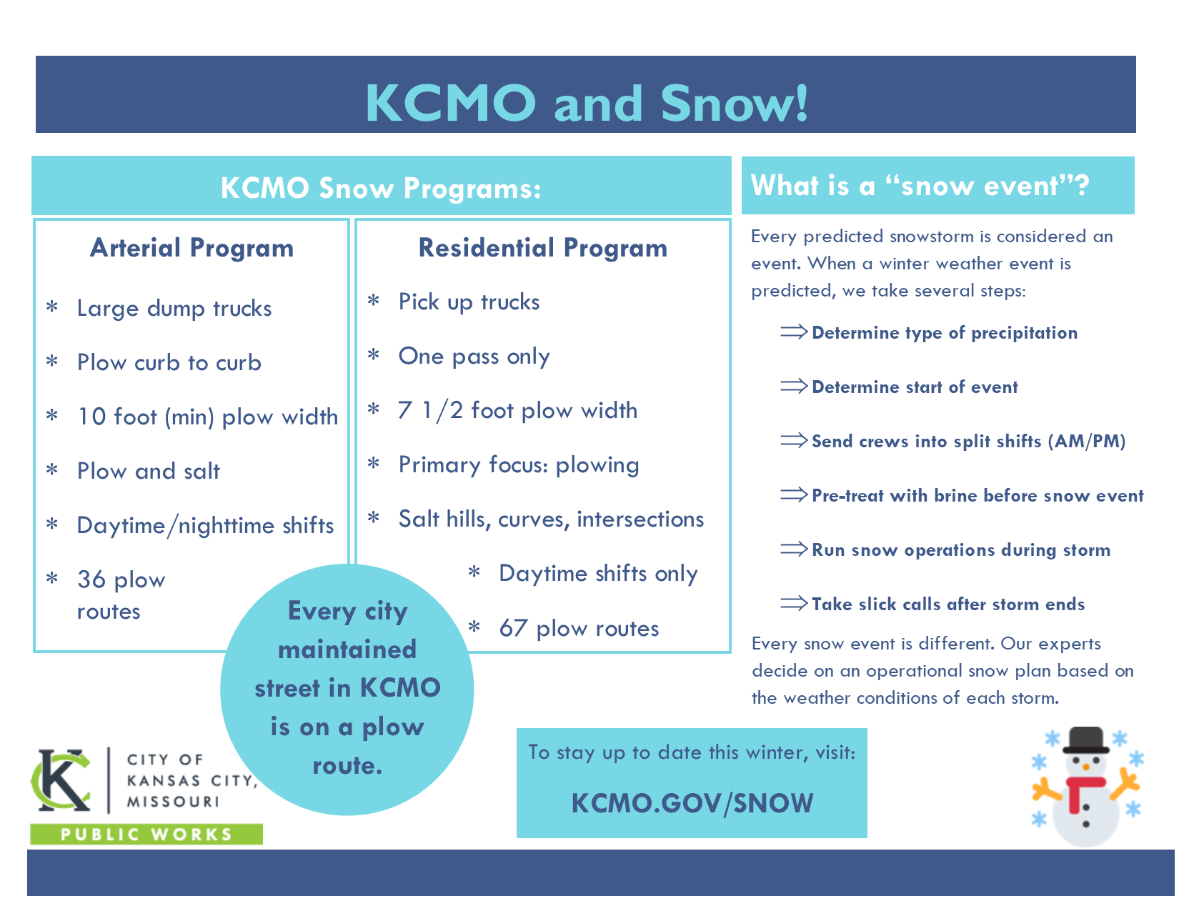 Snow Program Flyer